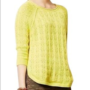 Sparrow Neon Yellow Cotton Sweater Size S